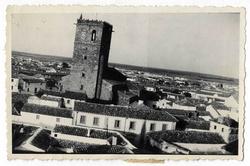 Quintanar de la Orden. Caserío e iglesia. 1960( P-785)