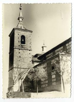 Santa Cruz del Retamar. Torre de la iglesia.1960 (P-826)