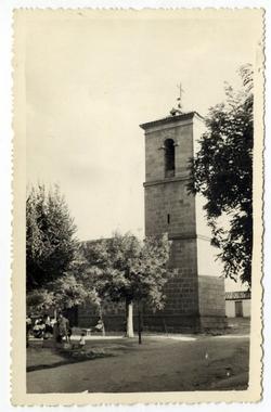 Villarejo de Montalbán. Torre de la iglesia. 1959 (P-1520)