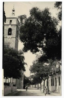 Villanueva de Alcardete. Avenida Mártires. 1960 (P-1485)