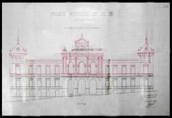 Toledo. Fachada principal del palacio de la Diputación, 1888