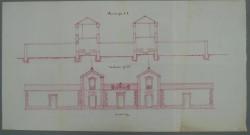 Illescas. Plano fachada edificio escuelas, 1885