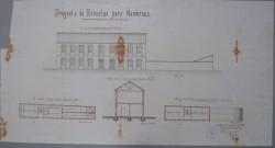 Nambroca. Plano fachada escuelas públicas, 1910
