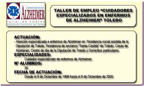 CUIDADORES ESPECIALIZADOS EN ENFERMOS DE ALZHEIMER (TOLEDO)
