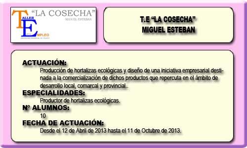 LA COSECHA (MIGUEL ESTEBAN)