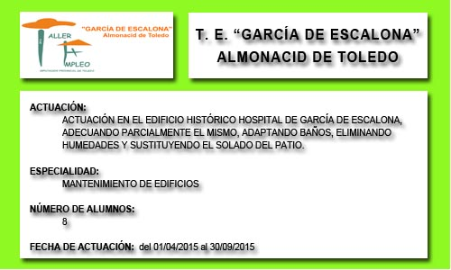 GARCÍA DE ESCALONA (ALMONACID DE TOLEDO)