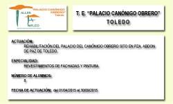 PALACIO CANONIGO OBRERO (TOLEDO)