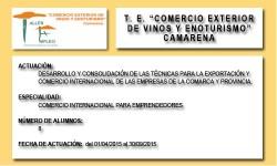 COMERCIO EXTERIOR DE VINOS Y ENOTURISMO (CAMARENA)