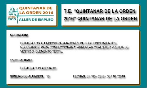 QUINTANAR DE LA ORDEN 2016 (QUINTANAR DE LA ORDEN)