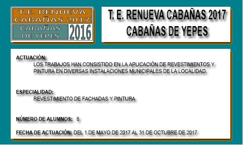 RENUEVA CABAÑAS 2017 (CABAÑAS DE YEPES)