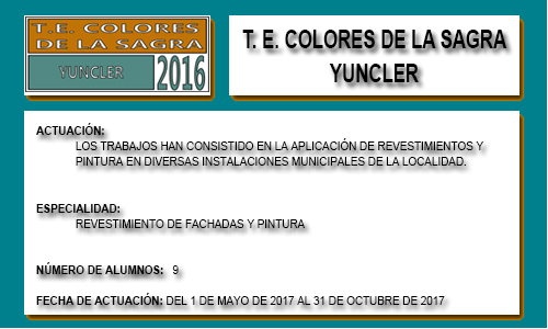 COLORES DE LA SAGRA (YUNCLER)