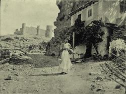 m.-Parador del Macho. Al fondo el Castillo de San Servando.