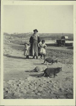 b.-Niños a la orilla del río Tajo llamado río Chico