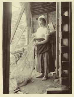 a.-Joven pescadora de las orillas del río Tajo
