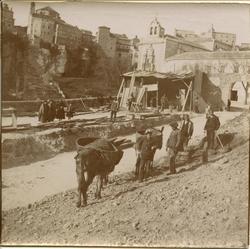 m.-Construcción del Puente de San Pablo (Cuenca) 1902