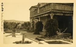 43064-Vista lateral del jardín y Casa de El Greco