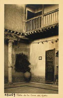 43069-Detalle del patio de la Casa de El Greco