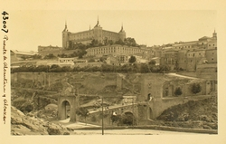 43007-Alcázar y Puente de Alcántara desde San Servando
