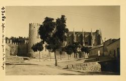 43080-La iglesia y el palacio de Maqueda desde el Cambrón