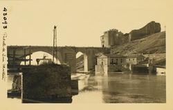 43093-Puente y central eléctrica desde el Molino de la Cruz