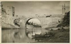 43184-Vista general del Puente de Alcántara aguas abajo