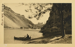 43162-La barca de pasaje en el Tajo y S. Servando al fondo