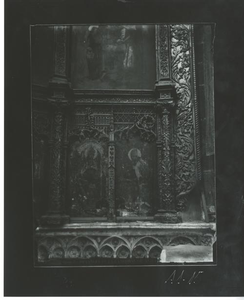 A1-15 Cated. Detalle del retablo mayor, de V. de la Zarza