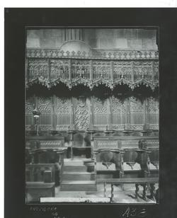 A3-8 Convº de Sto. Tomás. Detalle de la sillería del coro