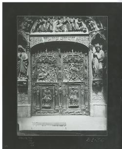 B1-36 Catedral. Datalle puerta de la Anunciación del Claustr