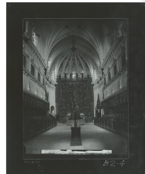 B2-4 Cartuja de Miraflores. Coro y Altar Mayor