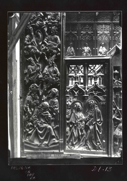 D1-13 Cat. Detalle coro bajo: Árbol de David y la Visitación