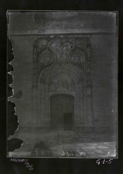 G1-5 Catedral Nueva. Portada gótica, siglo XV