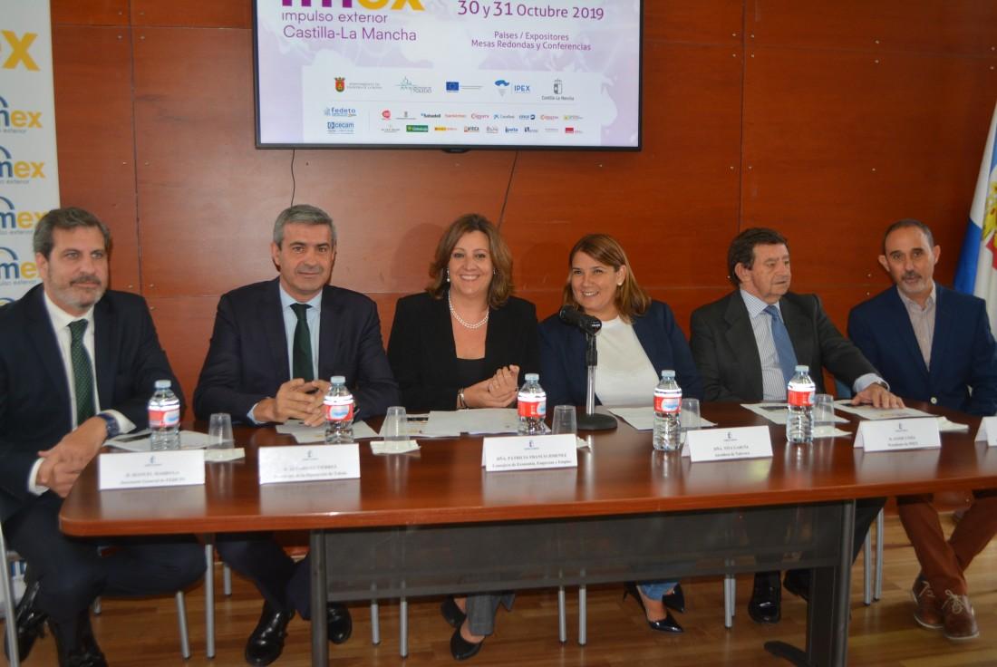 Álvaro Gutiérrez durante la presentación de IMEX en Talavera de la Reina