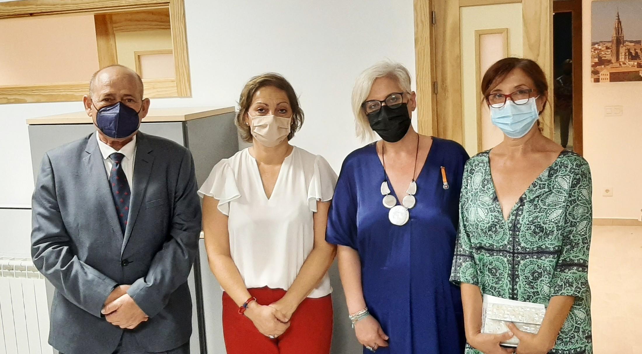 Ana Gómez, Engracia Sánchez, María Ángeles García y Ángel de Vega