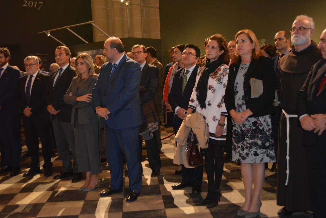 Ana Gómez en la inauguración de la Exposición