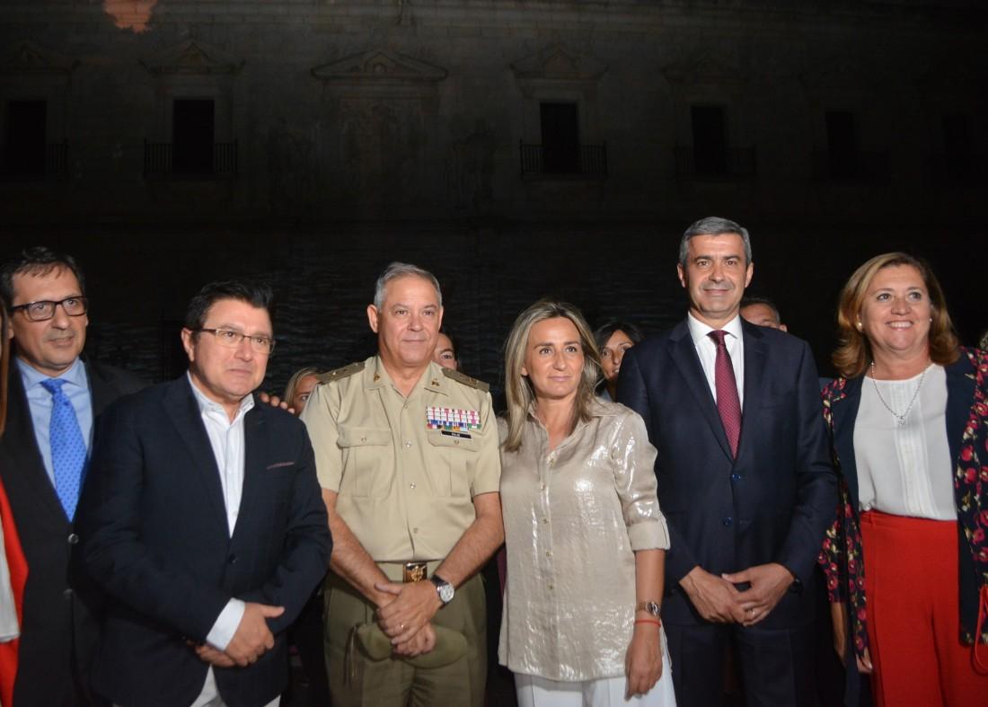 Álvaro Gutiérrez minutos antes de iniciarse el espectáculo Luz Toledo