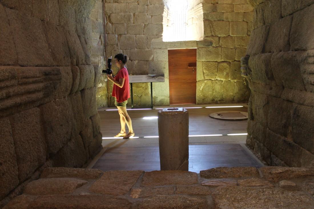 Foto de archivo del interior de la iglesia de Melque