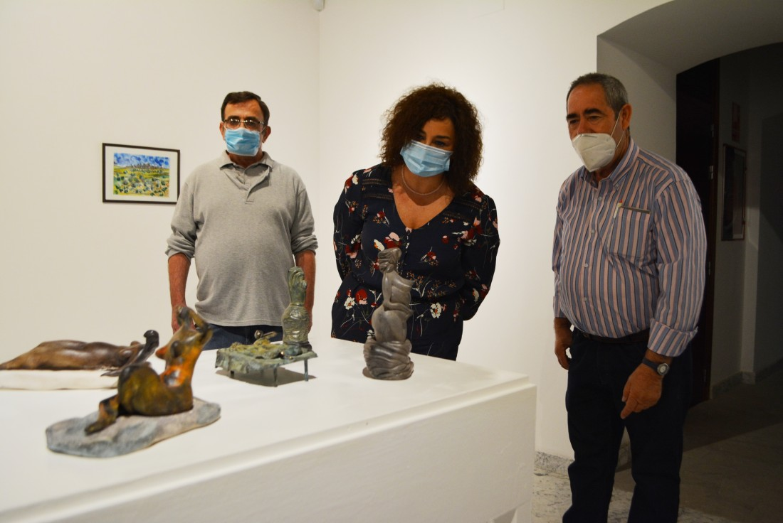 Cristina Cebas con Jorge Lencero y José Luís Romeral