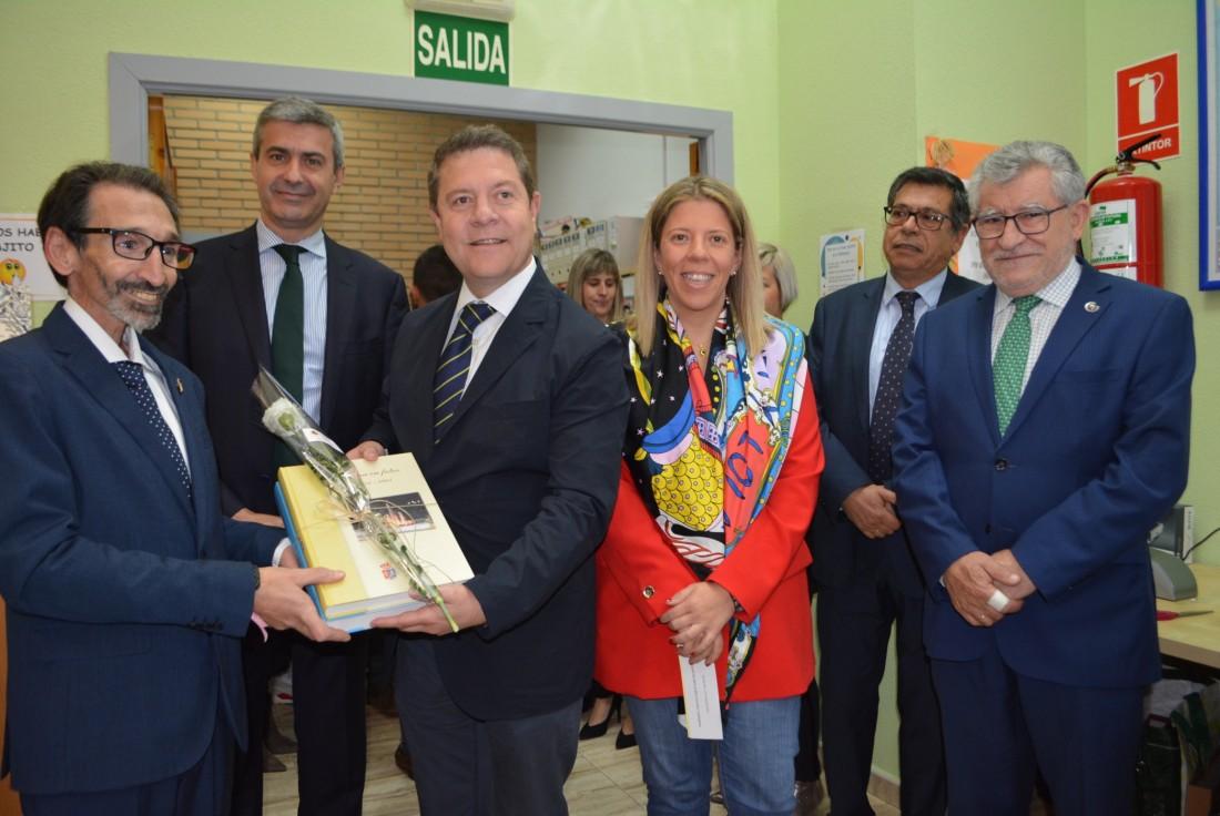Álvaro Gutiérrez con García Page en Ugena