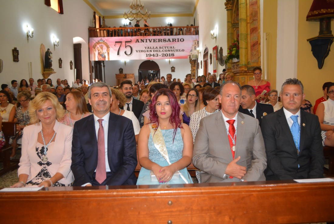Álvaro Gutiérrez y María José Gallego en la misa conmemorativa de 75 Aniversario de la imagen