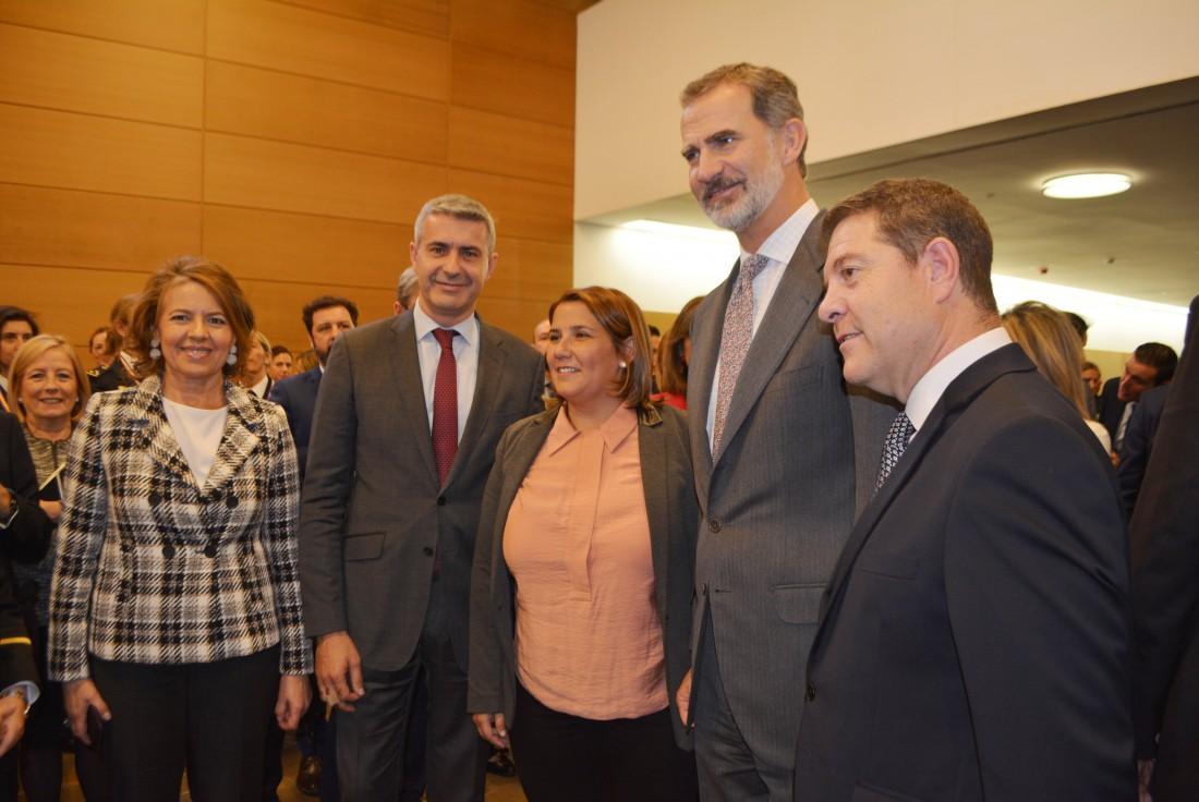 Álvaro Gutiérrez con el Rey de España
