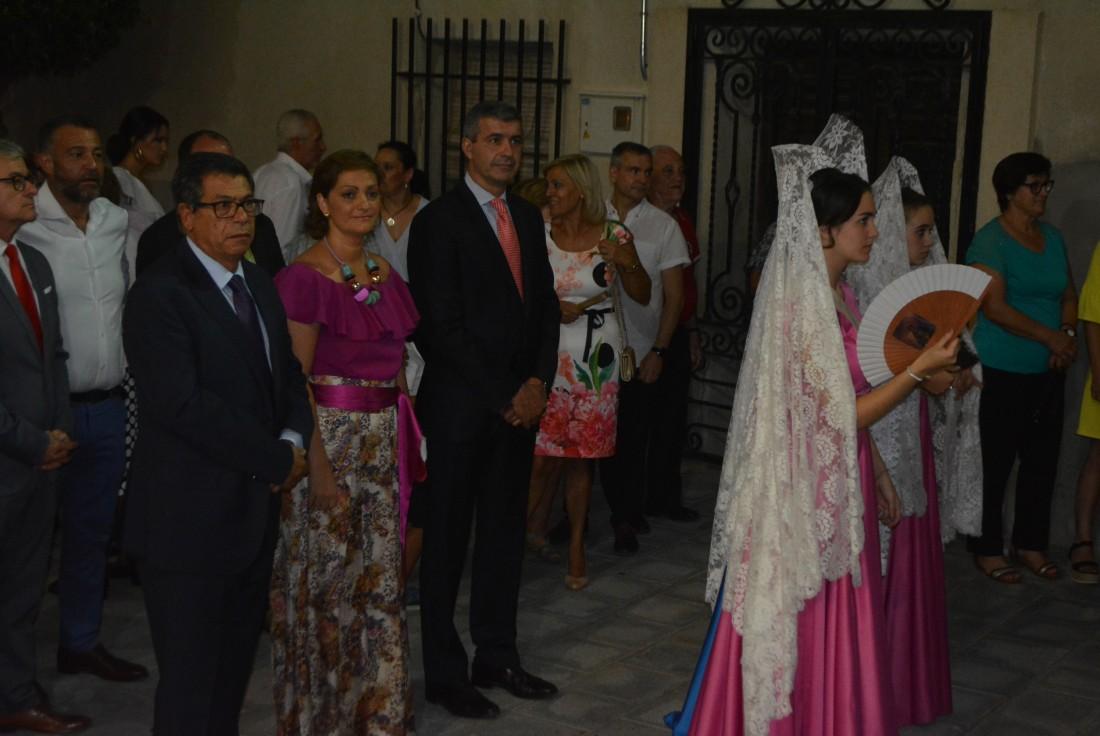 Álvaro Gutiérrez, María Ángeles García y Javier Nicolás en las fiestas patronales de Pantoja