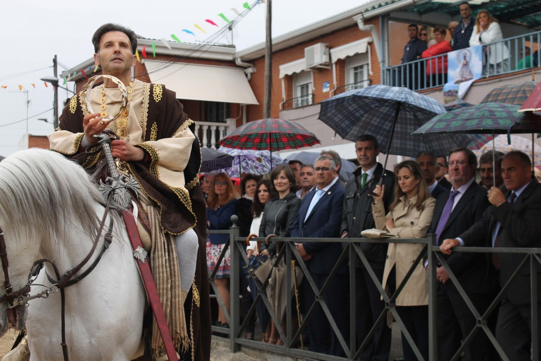 Álvaro Gutiérrez en un momento de la representación de moros y cristianos de Maqueda