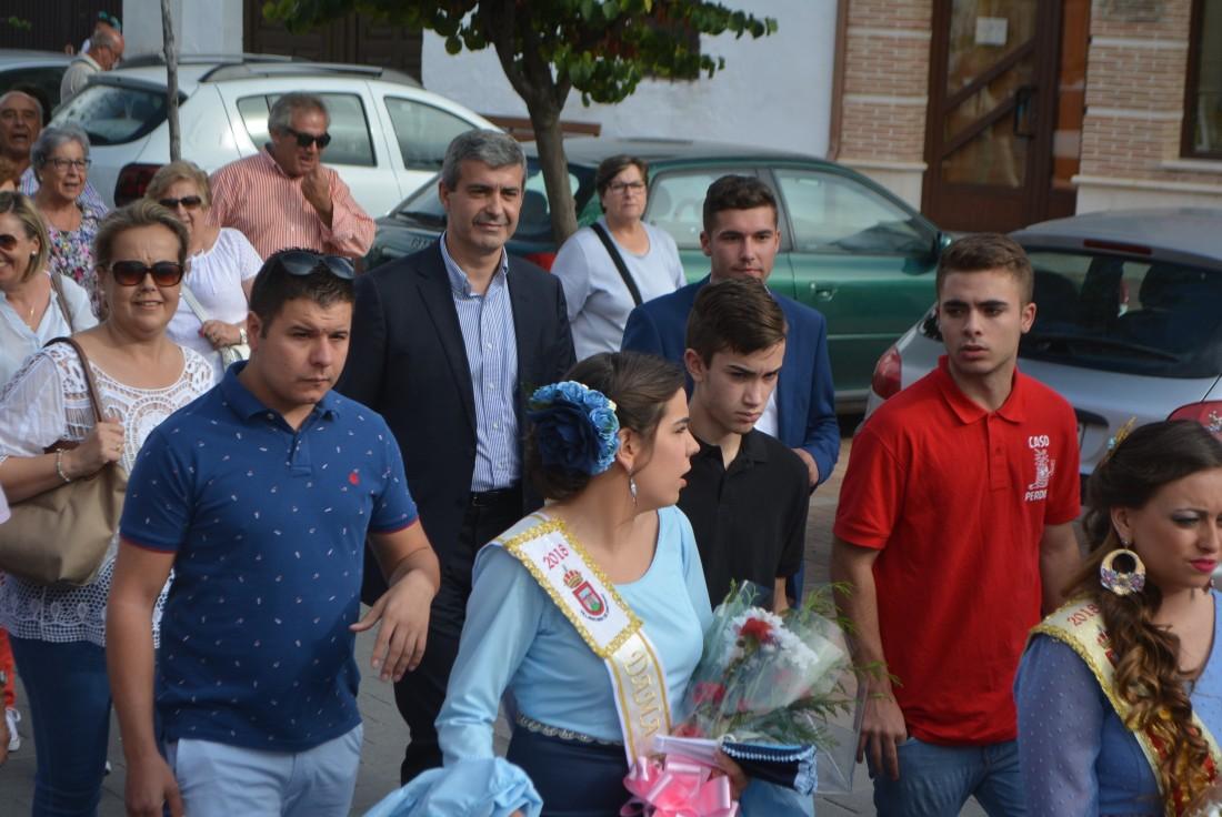 Álvaro Gutiérrez junto a Julián Bolaños en las fiestas patronales de Villafranca de los Caballeros
