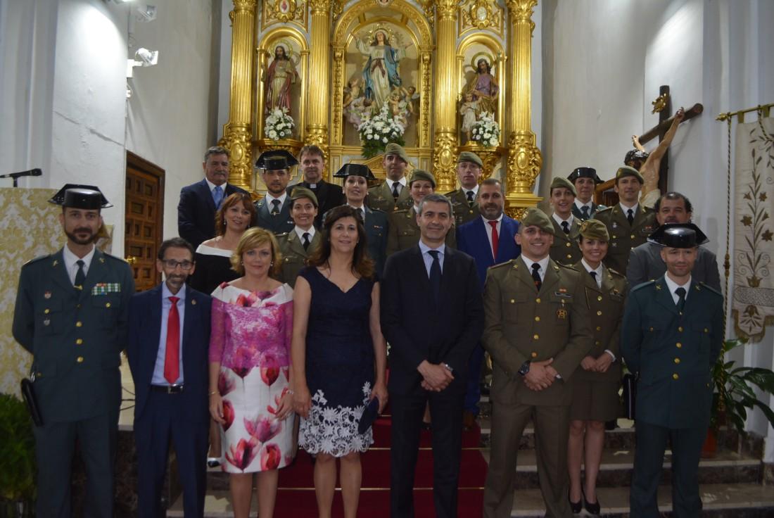 Álvaro Gutiérrez en la procesión de San Antonio de Padua de Yeles