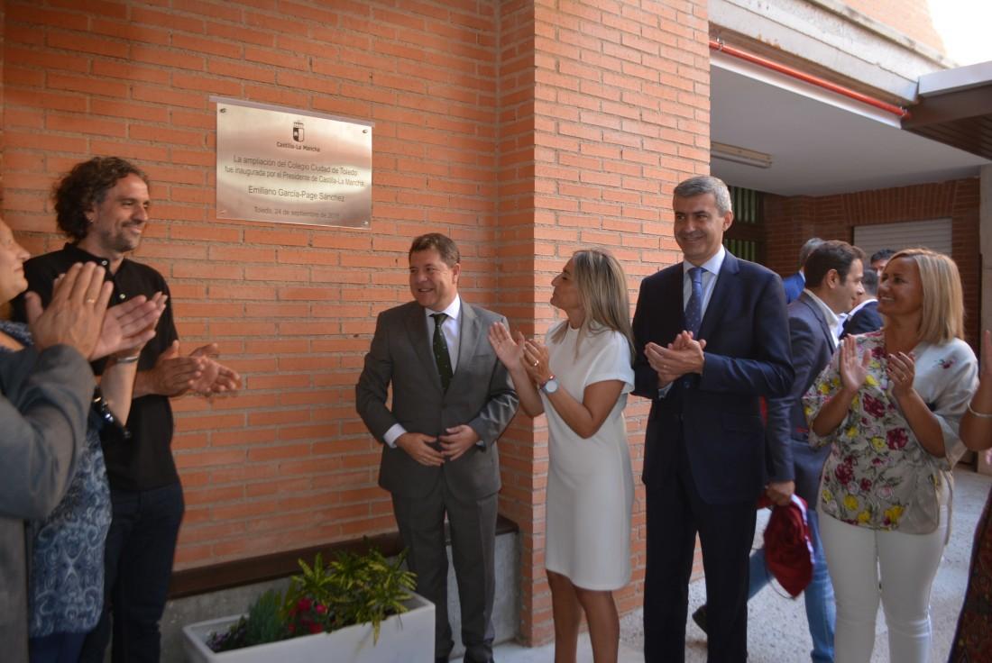 Álvaro Gutiérrez en la inauguración de las nuevas aulas de Centro de Educación Especial de Toledo