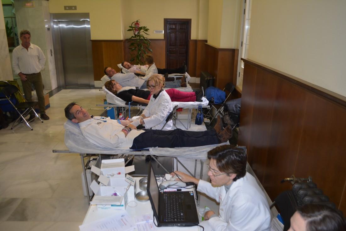 Donantes de sangre hoy en la Diputación de Toledo
