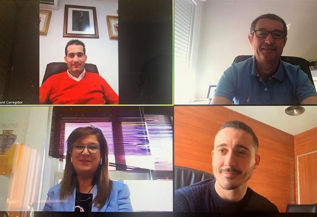 Reunión telemática de Fernando Muñoz y los diputados del Área de Asuntos Generales, Empleo, Turismo