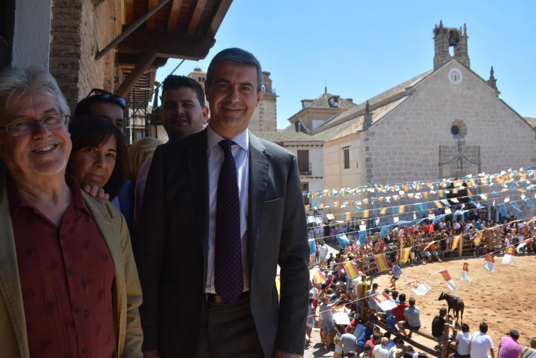 Álvaro Gutiérrez minutos antes de iniciarse la popular suelta de vaquillas en La Puebla de Montalbán