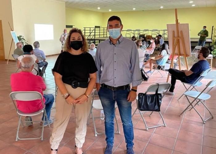 Cristina Cebas y Alberto Lucero en el curso de verano de San Martín de Pusa